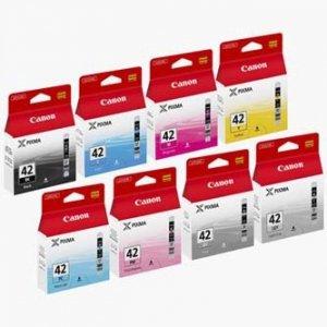 Canon oryginalny wkład atramentowy / tusz CLI-42 8tuszs Multi Pack. CMYK. 6384B010. Canon Pixma Pro-100 6384B010