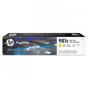 HP oryginalny wkład atramentowy / tusz L0R11A. No.981X. yellow. high capacity. HP PageWide MFP E58650. 556. Flow 586 L0R11A