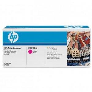 HP oryginalny toner CE743A. magenta. 7300s. HP Color LaserJet CP5225 CE743A