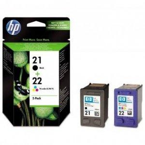 HP oryginalny wkład atramentowy / tusz SD367AE. No.21 + No.22. black/color. 190/165s. blistr. 2szt. HP 2-Pack. C9351AE + C9352AE SD367AE#301