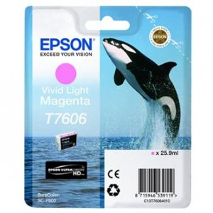 Epson oryginalny wkład atramentowy / tusz C13T76064010. T7606. vivid light  magenta. 25.9ml. 1szt. Epson SureColor SC-P600 C13T76064010