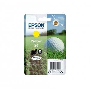 Epson oryginalny ink / tusz C13T34644020, T346440, yellow, z zabezpieczeniem, 4.2ml, Epson WF-3720DWF, 3725DWF