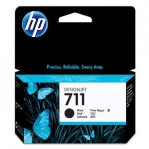 HP oryginalny wkład atramentowy / tusz CZ129A. No.711. black. 38ml. HP Designjet T120, T125, T130, T520, T525, T530 CZ129A