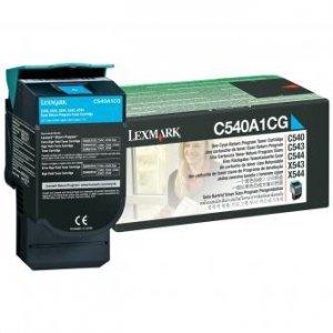 Lexmark oryginalny toner C540A1CG. cyan. 1000s. Lexmark C540. X543. X544. X543. X544 C540A1CG