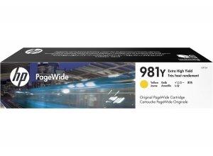 HP oryginalny wkład atramentowy / tusz L0R15A. No.981Y. yellow. extra duża pojemność. HP PageWide MFP E58650. 556. Flow 586 L0R15A