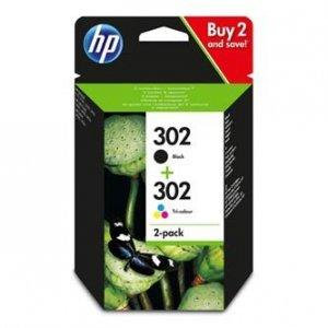 HP oryginalny wkład atramentowy / tusz X4D37AE, No. 302, black/color, HP X4D37AE