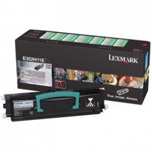 Lexmark oryginalny toner E352H11E. black. 9000s. return. Lexmark E35x E352H11E