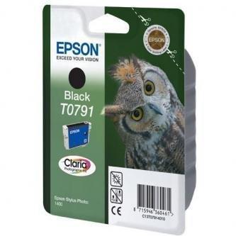 Epson oryginalny wkład atramentowy / tusz C13T079140. black. 11.1ml. Epson Stylus Photo 1400 C13T07914010