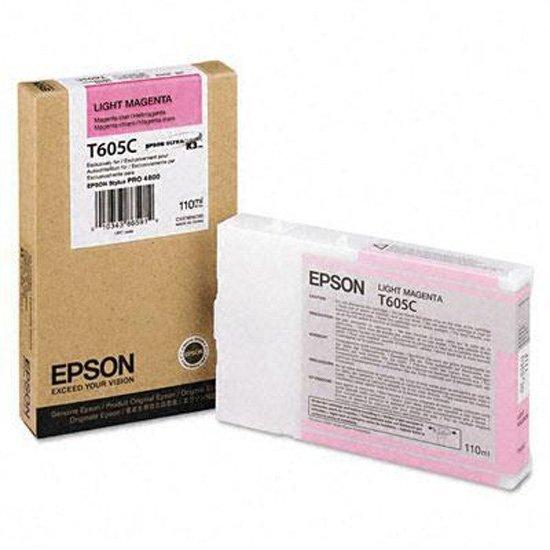 Epson oryginalny wkład atramentowy / tusz C13T605C00. light magenta. 110ml. Epson Stylus Pro 4800. 4880 C13T605C00