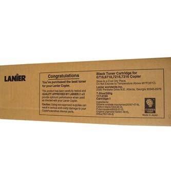 Lanier oryginalny toner 117-0195. black. 6000s. Lanier T-6716. 6718. 7216. 7316. 1x200g 117-0195