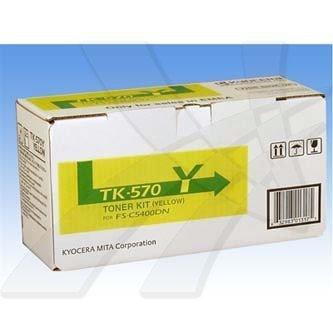 Kyocera Mita oryginalny toner TK570Y. yellow. 12000s. Kyocera Mita FS-C 5400DN 1T02HGAEU0