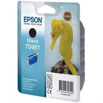 Epson oryginalny wkład atramentowy / tusz C13T048140. black. 630s. 13ml. Epson Stylus Photo R200. 220. 300. 320. 340. RX500. 600 C13T04814010
