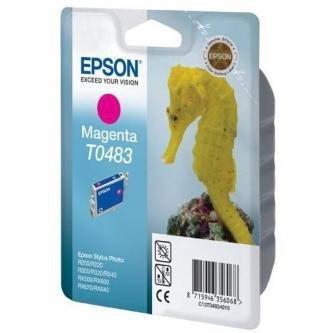Epson oryginalny wkład atramentowy / tusz C13T048340. magenta. 430s. 13ml. Epson Stylus Photo R200. 220. 300. 320. 340. RX500. 600