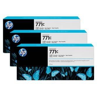 HP oryginalny wkład atramentowy / tusz B6Y37A. No.771C. photo black. 3szt. HP Designjet Z6200 B6Y37A