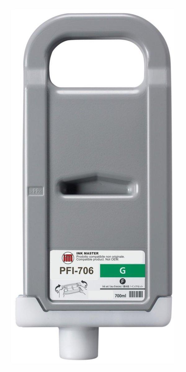 Canon oryginalny wkład atramentowy / tusz PFI706G. green. 700ml. 6688B001. ploter iPF-8300