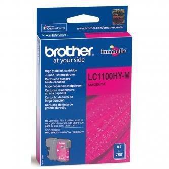 Brother oryginalny wkład atramentowy / tusz LC-1100HYM. magenta. 750s. high capacity. Brother DCP-6690CW. MFC-6490CW