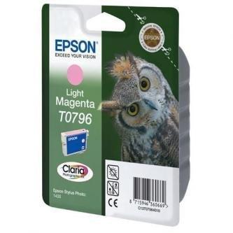 Epson oryginalny wkład atramentowy / tusz C13T079640. light magenta. 11.1ml. Epson Stylus Photo 1400