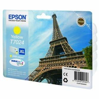 Epson oryginalny wkład atramentowy / tusz C13T70244010. XL. yellow. 2000s. Epson WorkForce Pro WP4000. 4500 series C13T70244010