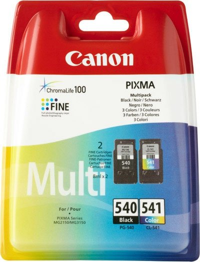 Canon oryginalny wkład atramentowy / tusz PG540/CL541 multipack. black/color. 5225B006. Canon Pixma MG2150. 3150 5225B006