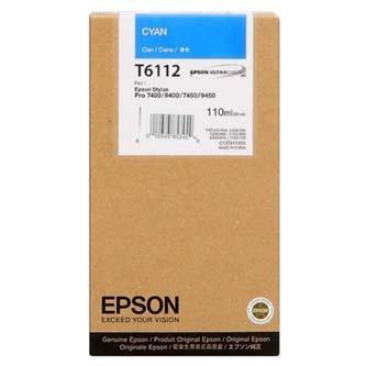 Epson oryginalny wkład atramentowy / tusz C13T611200. cyan. 110ml. Epson Stylus Pro 7400. 7450. 9400. 9450 C13T611200