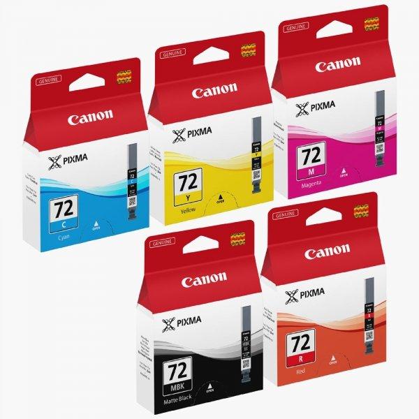 Canon oryginalny wkład atramentowy / tusz PGI72 CMYK. CMYK. 6402B009. Canon PIXMA Pro-10