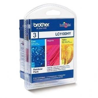 Brother oryginalny wkład atramentowy / tusz LC-1100HYRBWBP. cyan/magenta/yellow. 3x750s. Brother DCP-6690CW. MFC-6490CW LC1100HYRBWBP