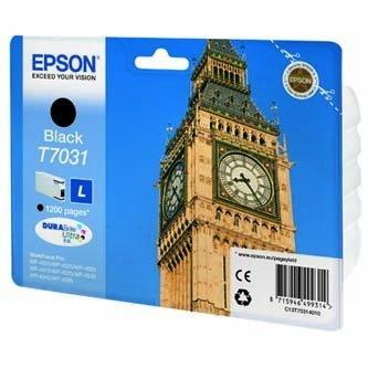 Epson oryginalny wkład atramentowy / tusz C13T70314010. L. black. 1200s. Epson WorkForce Pro WP4000. 4500 series C13T70314010