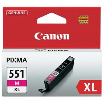 Canon oryginalny wkład atramentowy / tusz CLI551M XL. magenta. 11ml. 6445B001. high capacity. Canon PIXMA iP7250. MG5450. MG6350