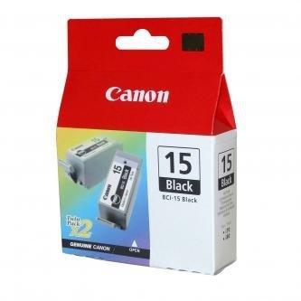 Canon oryginalny wkład atramentowy / tusz BCI15B. black. 390s. 8190A002. 2szt. Canon i70 8190A002