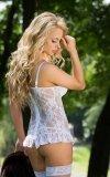 Elodie - white 1744 gorset i stringi