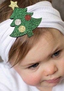 1 kIDS opaska na głowę biała z choinką