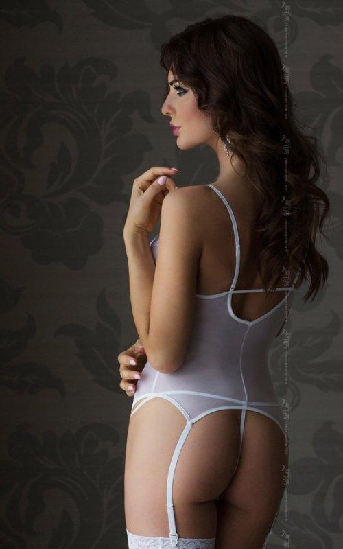 Valeria 1809 - white gorset i stringi