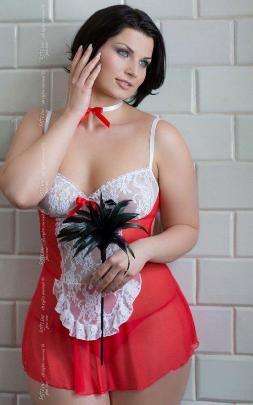 Fifi - Plus Size - red 1730 pokojówka