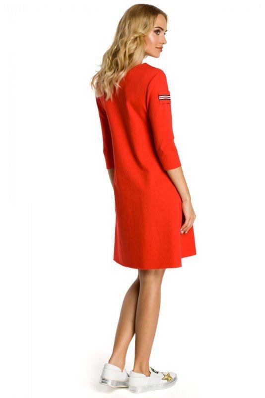M343 sukienka czerwona
