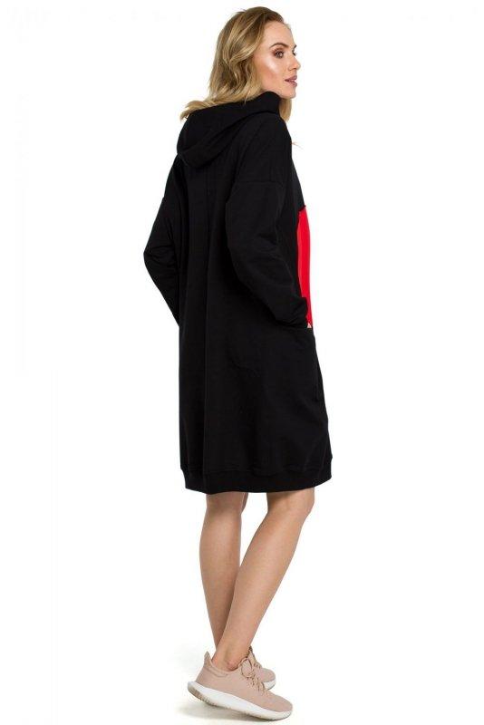 M387 Sukienka - czarna
