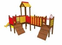 Drewniany plac zabaw 1