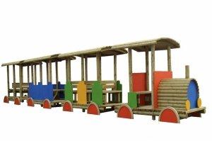 Plac zabaw pociąg