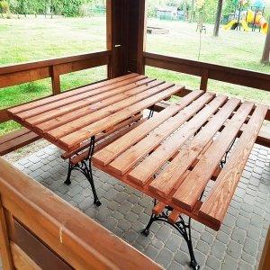 Stół ogrodowy stelaż żeliwny