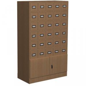 Szafka katalogowa biblioteczna, typ E, 30 szuflad