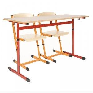 Stół szkolny Antek z regulacją 2-osobowy