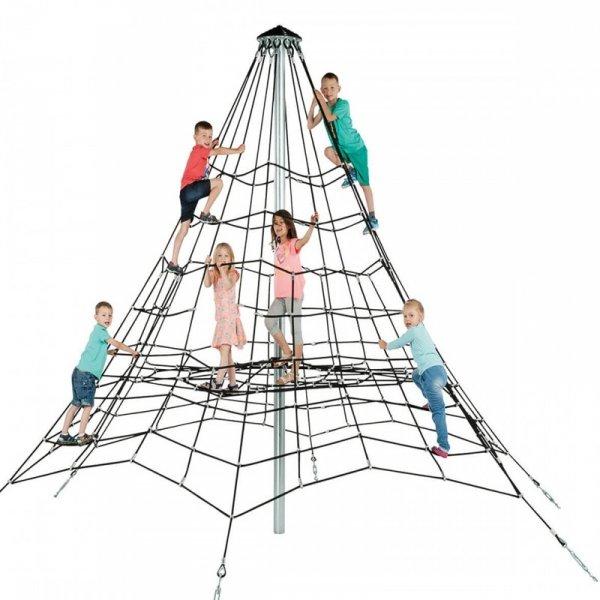 piramida z liny zbrojnej 3,5, mlinarium perry, linarium firry, liniarium, piramida, place zabaw, na plac zabaw, wyposażenie placu zabaw