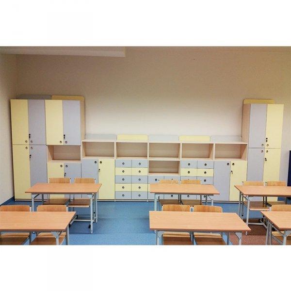 zestaw szafek szkolnych, szafki szkolne, szafki do szkoły, regał szkolny, regał do szkoły, meble szkolne, meble do szkoły, meble szkolne certyfikowane, meble z certyfikatem, produkcja meble szkolne