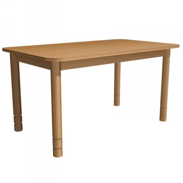 stolik przedszkolny drewniany prostokątny,stolik na drewnianych nogach,stolik drewniany,stolik przedszkolny