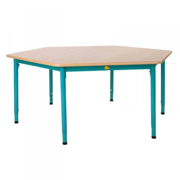 stolik przedszkolny bambino sześciokątny,stolik sześciokątny bambino,bambino stolik,stolik bambino