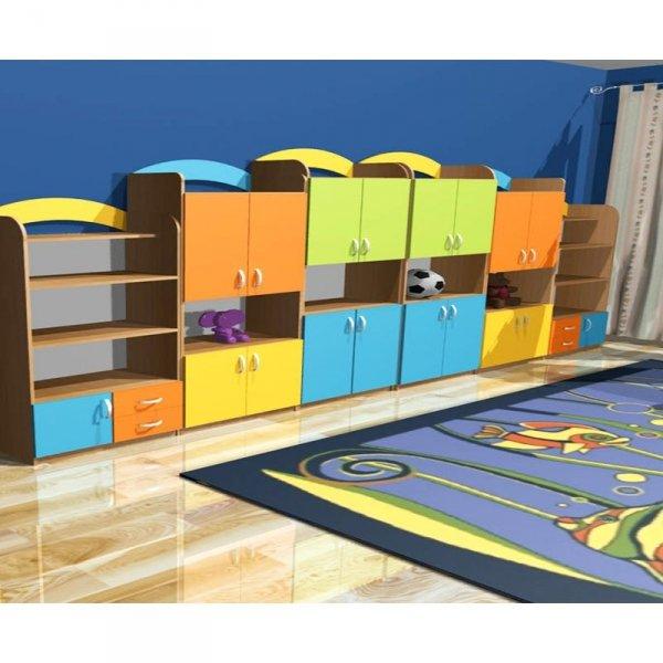 zestaw mebli przedszkolnych,zestaw mebli do przedszkola,szafki przedszkolne,szafki do sali przedszkolnej