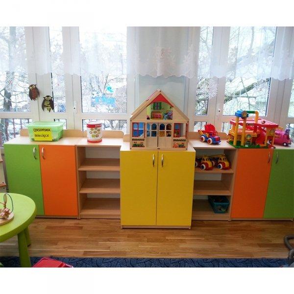 zestaw mebli przedszkolnych,zestaw mebli do przedszkola,zestaw szafek przedszkolnych,regały przedszkolne