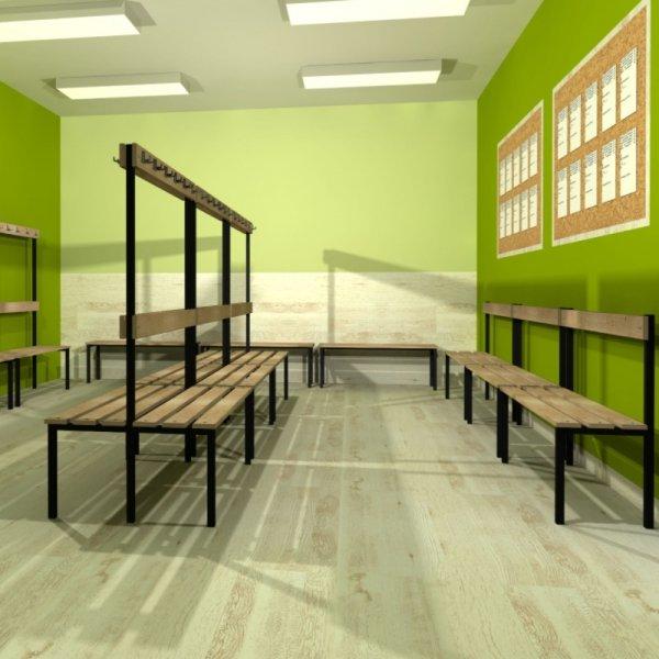 ławka korytarzowo szatniowa z półką na buty premium bez oparcia 1m lub 1,2m
