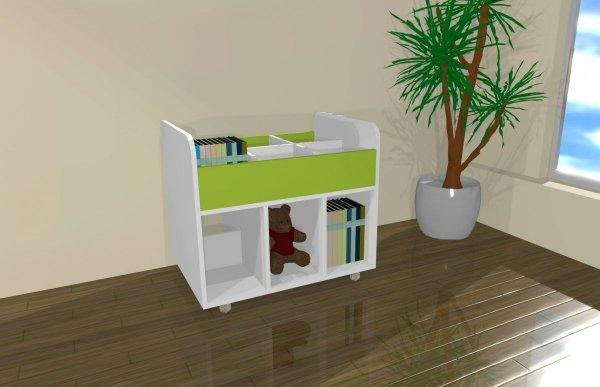 półka na książki,na książki,kącik na książki,wózek na książki