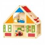 Viga Toys Drewniany Domek Dla Lalek