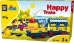 Klocki Blocki Mubi Happy Train 36el.